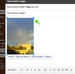 dimensionner image Google