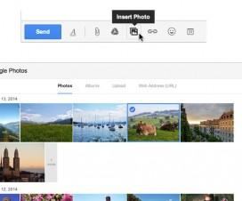 Envoi photos par gmail