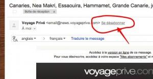 gmail desabonnement