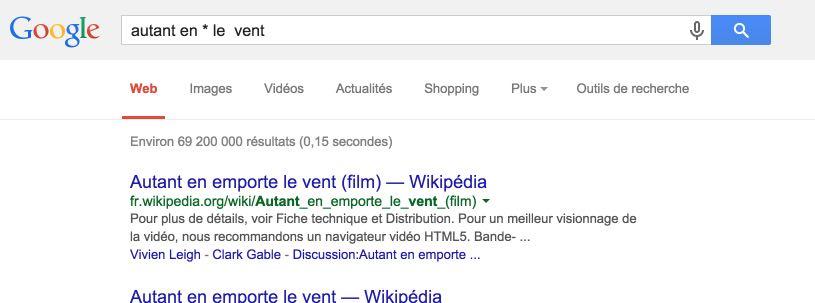 Asterisque google