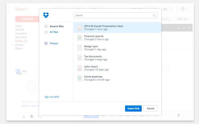 drpbox gmail