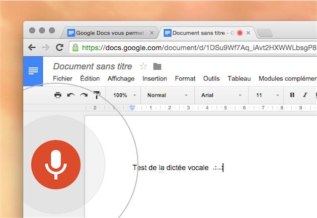 google docs voix