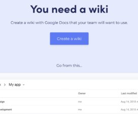 wiki google docs